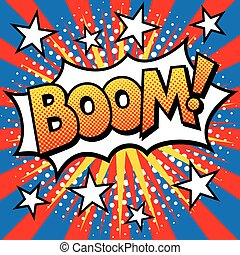 Pop Art BOOM! Text Design
