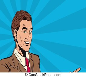 Pop art businessman cartoon HD animation