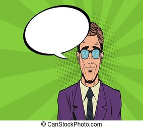 Pop art businessman HD animation