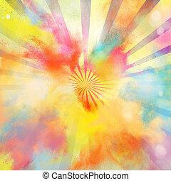 Pop-art colourful burst - Background of pop-art burst bright...