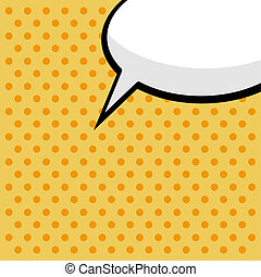 pop art comic speech bubble