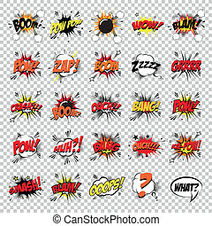 Pop Art - abstract set of pop art objects on a special...