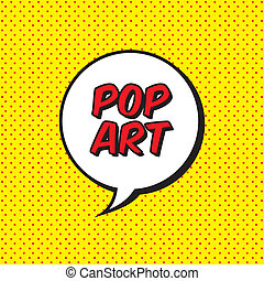 pop art explosion over dotted background. vector...