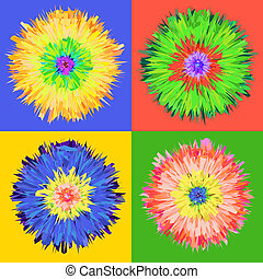 Pop art flower. - Pop art flower, vector Eps 10...