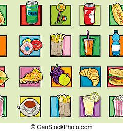 pop art food pattern