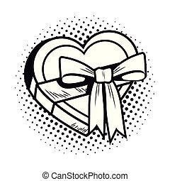 pop art gift cartoon black and white
