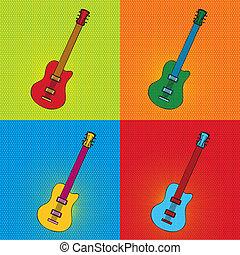pop art guitar