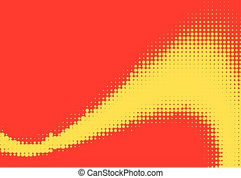 Pop art halftone retro background shapes with cartoon style