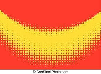 Pop art halftone retro background shapes with cartoon style