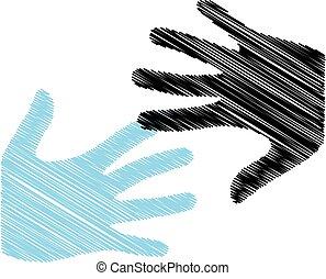 Pop Art Hands logo