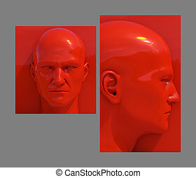 Pop Art Heads - Realistic 3d Human Heads on Different...