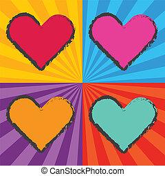 pop art heart