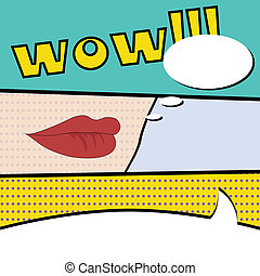 pop art - comic pop art background, illustration in vector...