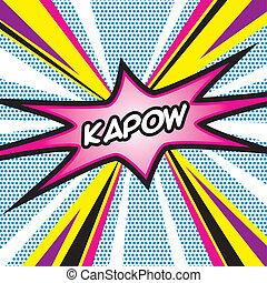 POP ART Kapow - Pop Art inspired illustration