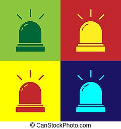 Pop art Motion sensor icon isolated on color background. Vector