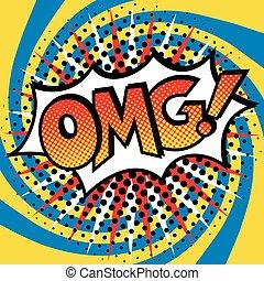 Pop Art OMG! Text Design - Pop Art cartoon OMG! text design...