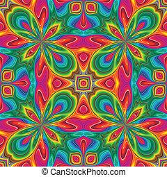 Pop art pattern - Weird seamless vector texture in art deco...