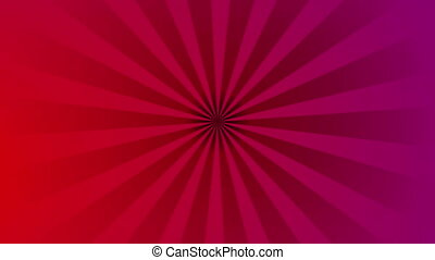 Pop art retro red purple beams video animation
