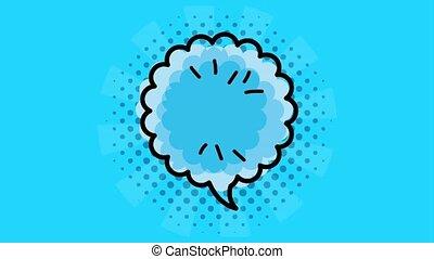 pop art speech bubble animation hd