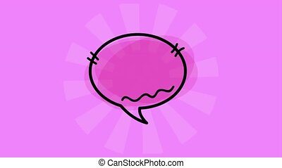 pop art speech bubble animation hd