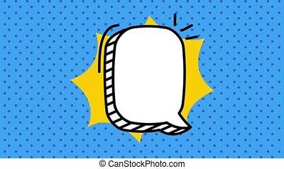 pop art speech bubble animation hd - pop art speech bubble...