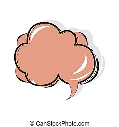 Pop art speech bubble, cartoon comic book