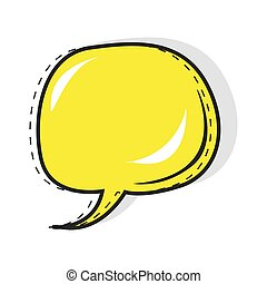 Pop art speech bubble in cartoon style vector