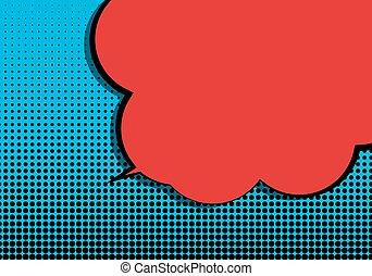 Pop Art Speech Bubble Vector Illustration
