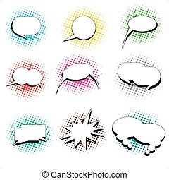 pop art style speech bubbles - A collection of pop art comic...