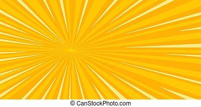 pop art sun background retro vector illustration drawing