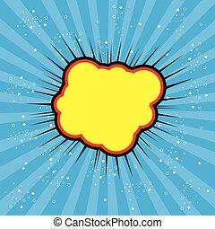 pop art text bubble cloud, illustration in vector format...