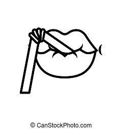 Pop art with straw line style