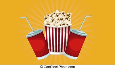 Pop corn and soda cup