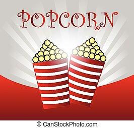 Pop corn background vector illustration.