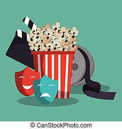 pop corn cinema enterainment vector illustration design