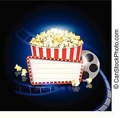 Pop corn cinema movie background - Pop corn cinema roll...
