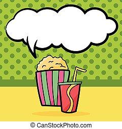 pop corn color doodle