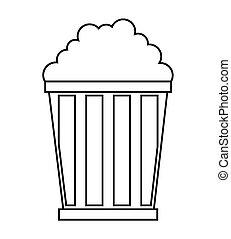 pop corn design, vector illustration eps10 graphic