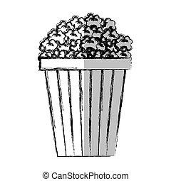 pop corn fast food vector illustration design