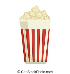 pop corn food - pop corn snack fast food striped bucket...