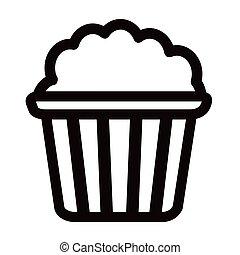 Pop corn icon. Fast food. Vector illustration design