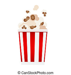 Pop Corn Icon on White Background Illustration