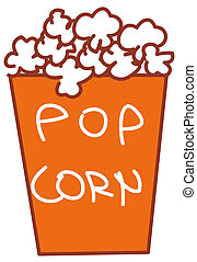 Pop corn - illustration of paper brick of pop corn sold at...