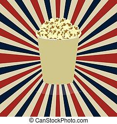 pop corn - pop corn design over grunge background vector...