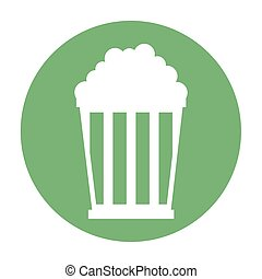 pop corn pot icon vector illustration design