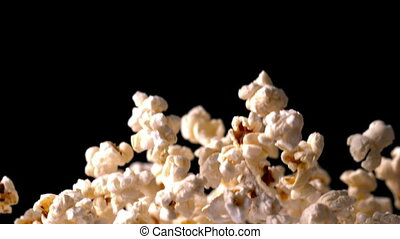 pop-corn, rebondir, noir, dos, contre