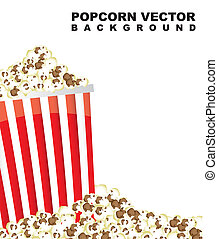 pop corn with space for copy. vector illustration