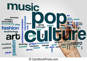 Pop culture word cloud