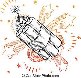 Pop dynamite sketch