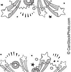 Pop explosion background - Doodle style pop explosion border...